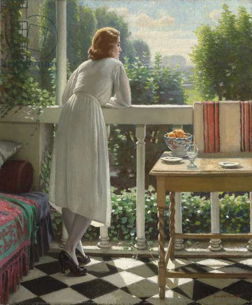 Miss Gladys on the Veranda,  (oil on canvas)