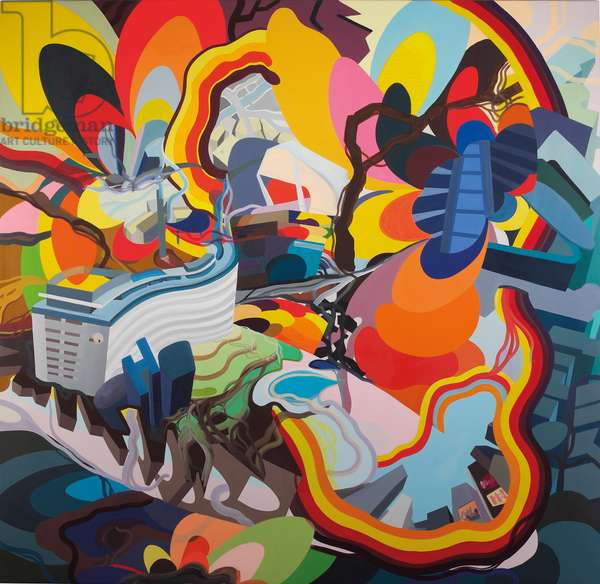 Untitled (Evasion XIII - 5 Star Tropical), 1997 (oil on canvas)