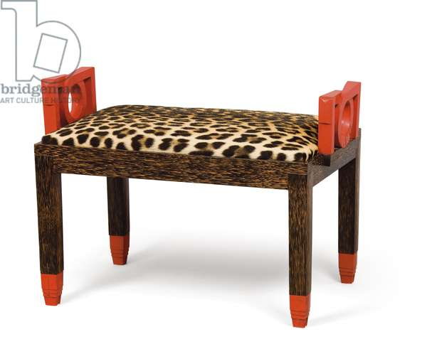Banquette, c.1928-29 (wood & leopardskin) (pair to 438723)