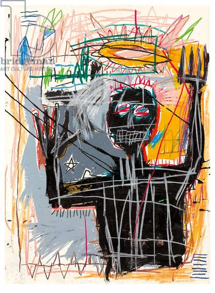 Furious Man, 1982 (oilstick, acrylic, wax crayon and ink on paper)