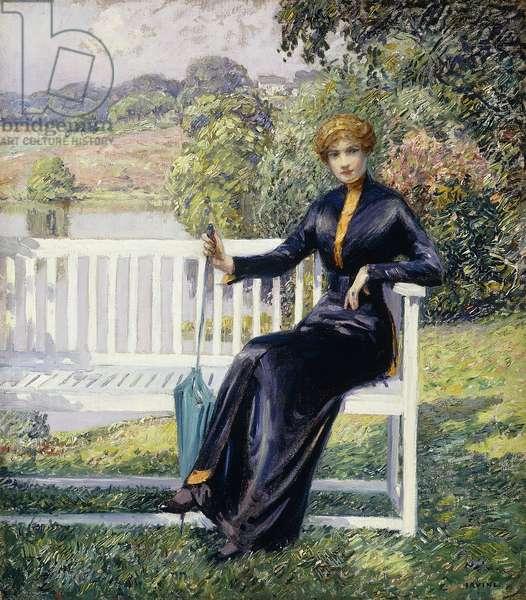 Lois in the Garden,  (oil on canvas)