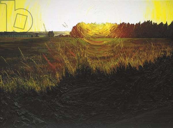 Black Plains, 2001 (oil on canvas)