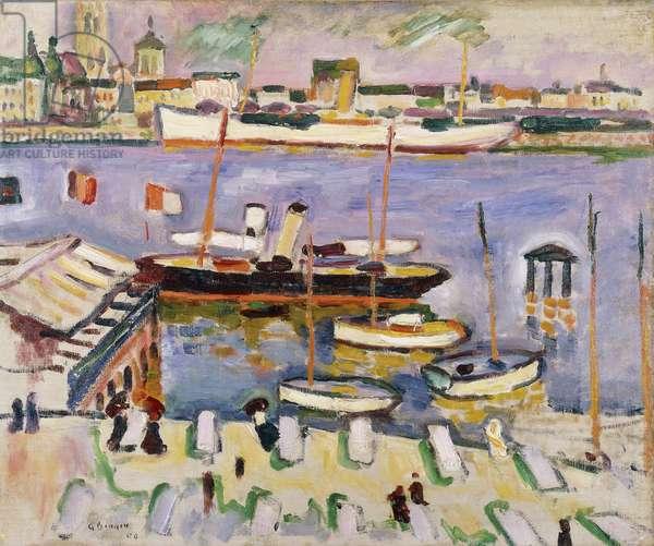 The White Boat; Le Bateau Blanc, 1906 (oil on canvas)