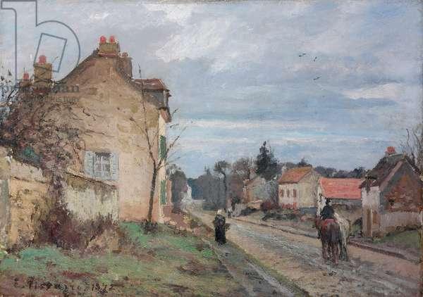 The Road to Louveciennes; La route de Louveciennes, 1872 (oil on canvas)