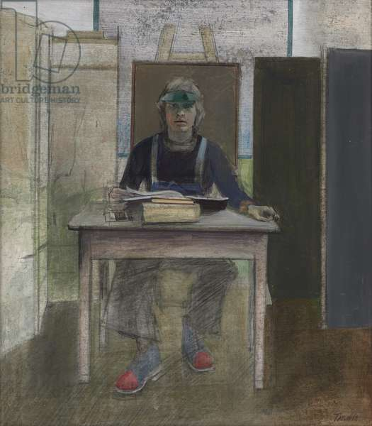 Study of Nick for The Reader, 1972 (acrylic on board)