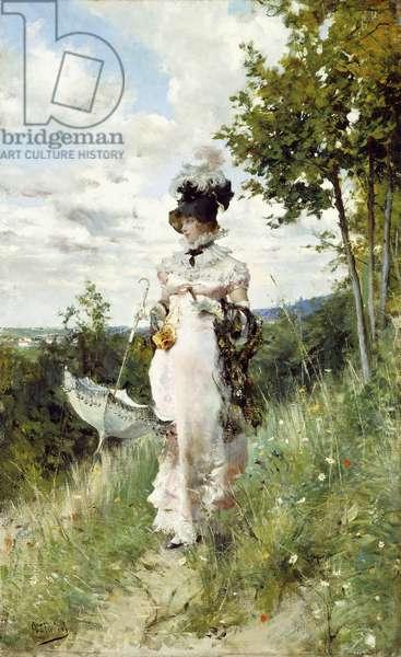 The Summer Stroll,  (oil on canvas)