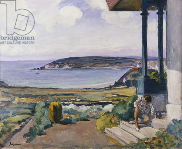 The Garden on the Morgat Bay; Le Jardin sur la Baie a Morgat, 1924 (oil on canvas)