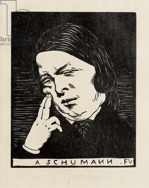 A Schumann, 1893 (woodcut)