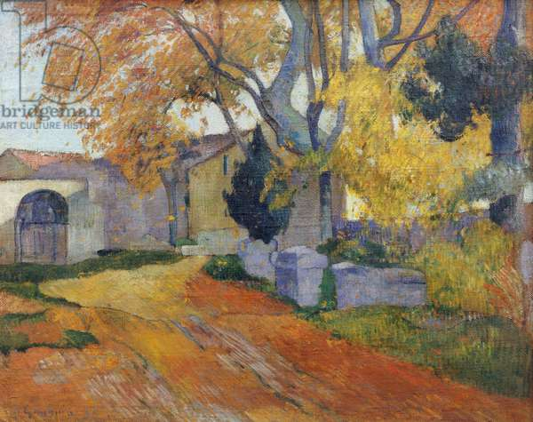 L'Allee des Alyscamps (oil on canvas)