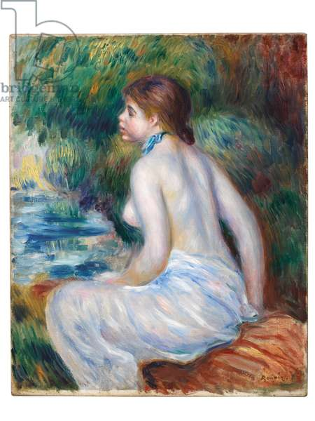 Bather sitting, 1890 (oil on canvas)