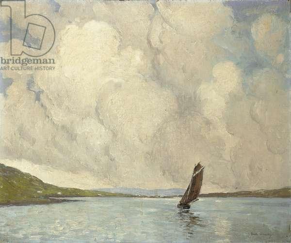 A Yawl, Connemara, c.1920 (oil on canvas)