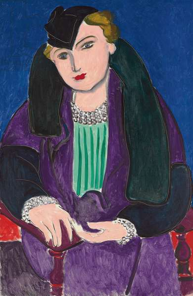 Portrait with a Blue Coat; Portrait au Manteau Bleu, 1935 (oil on canvas)