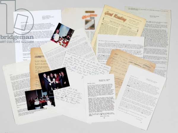 An archive of six typed letters (print & pen and ink on paper)