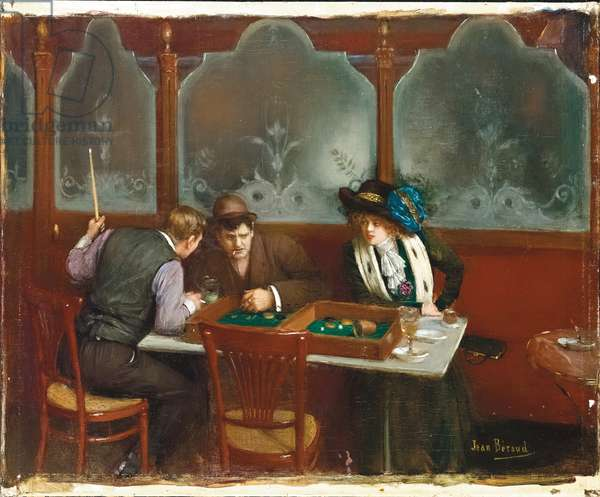 At the Cafe; Au cafe, 1909 (oil on canvas)