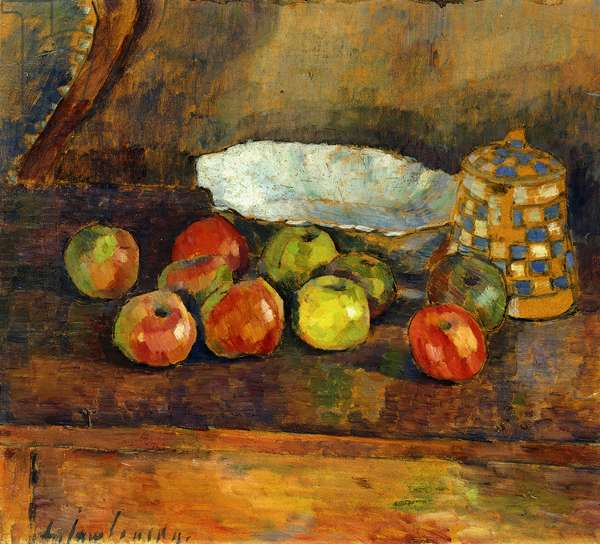 Still-life with Apples; Stilleben Mit Apfeln, c.1907 (oil on board)