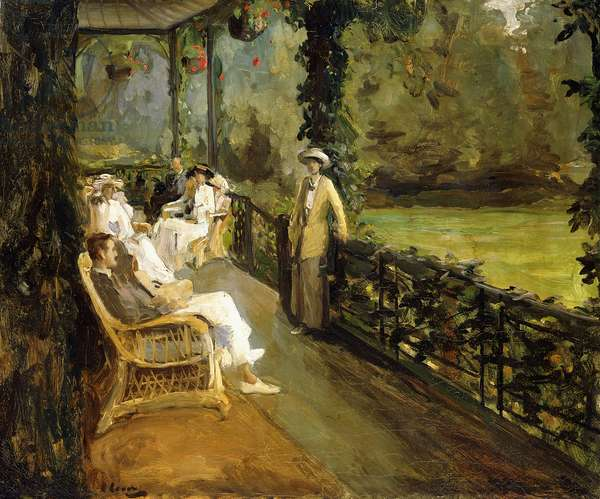 The Veranda, 1912 (oil on canvas)