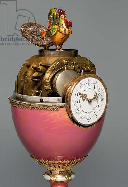 The Rothschild Faberge Egg, 1902 (gold, silver, enamel, seed pearls & precious stones)