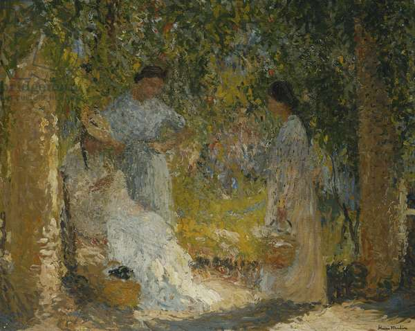 Three Women in the Garden; Trois Femmes dans le Jardin, 1905-1915 (oil on canvas)