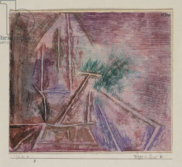 Wege Im Sand II, 1924 (pen & brush and coloured ink on board)