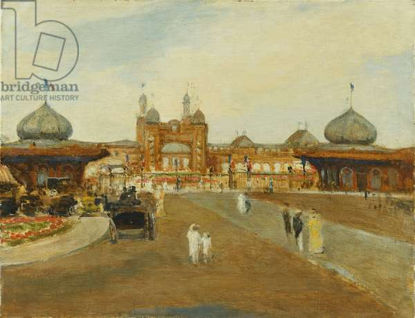 The British Empire Exhibition, Wembley, (oil on canvas)