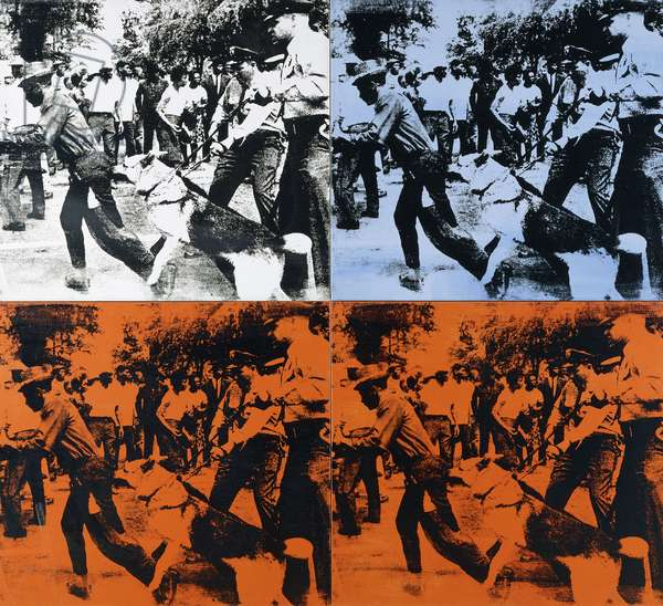 Race Riot, 1964 (silkscreened ink and synthetic polymer on canvas)