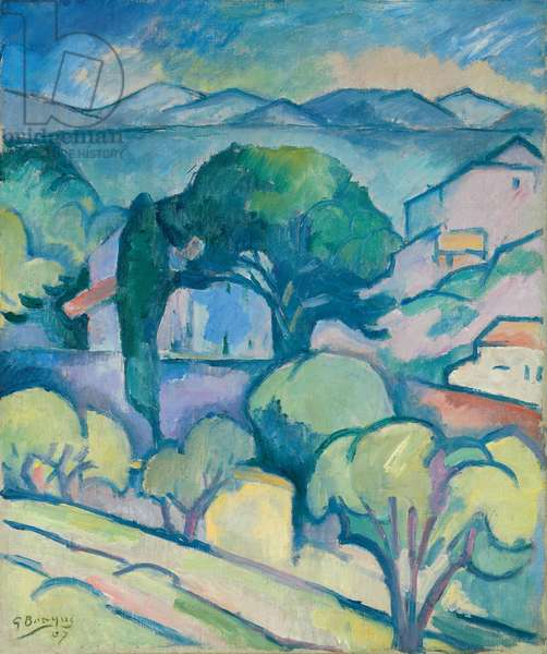 Landscape of Provence, L'Estaque; Paysage de Provence, l'Estaque, 1907 (oil on canvas)