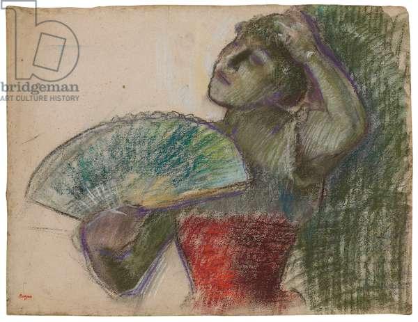 Dancer with a Fan; Danseuse a l'eventail, c.1894 (pastel on paper)