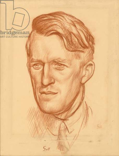 T. E. Lawrence (red chalk on paper)