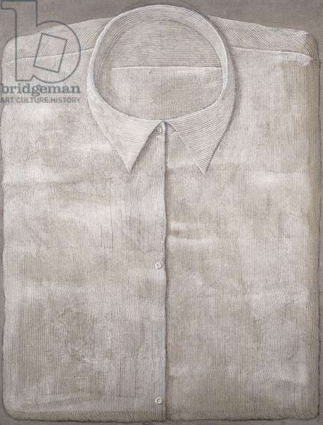 Striped Shirt; Camicia a Righe, 1966 (acrylic and sand on canvas)