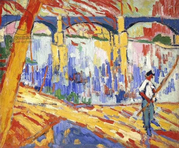 Fisherman at Argenteuil; Pecheur a Argenteuil, c.1906 (oil on canvas)
