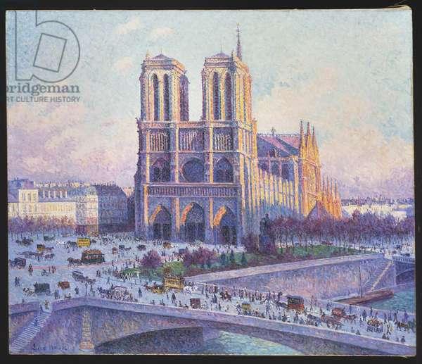 Notre Dame, Paris, View from the Quai Saint-Michel, 1901-04 (oil on canvas)