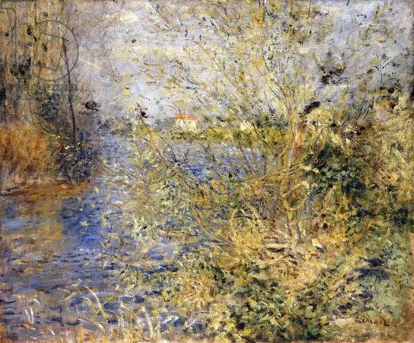 The Seine by Argenteuil; La Seine a Argenteuil, c.1875 (oil on canvas)