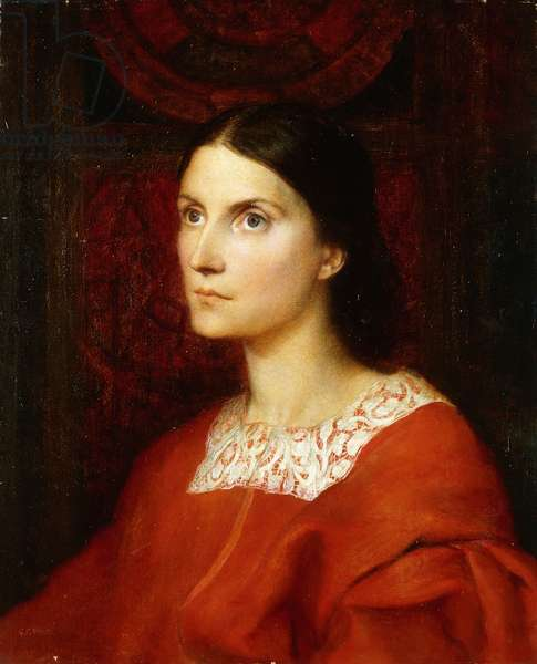 Portrait of Lady Wolverton, nee Georgina Tufnell,  (oil on panel)