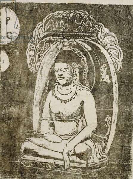 Buddha; Bouddha, 1895-1903 (woodcut)