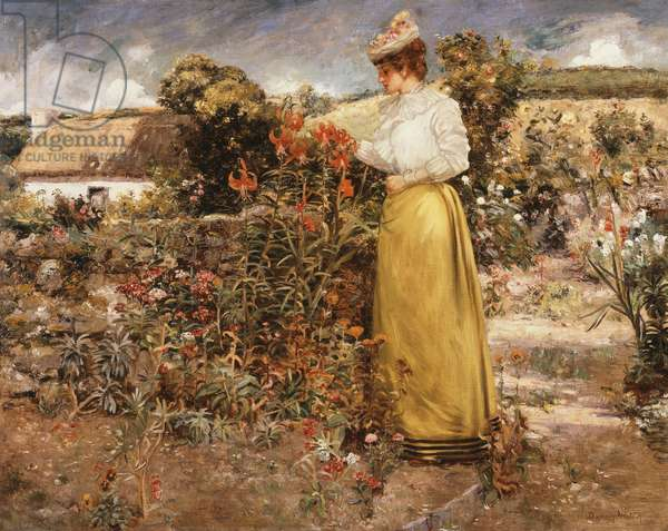 Among the Flowers, Giverny, 1890 (oil on canvas)