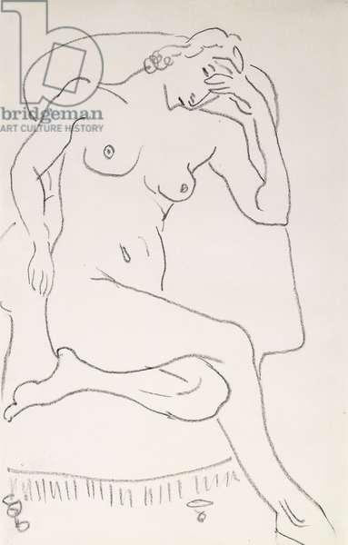 Nude Woman in an Armchair; Femme Nue dans au Fauteuil, c.1922-24 (pencil on paper)