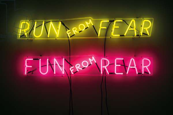 Run from Fear, Fun from Rear, 1972 (neon tubing with clear glass tubing)
