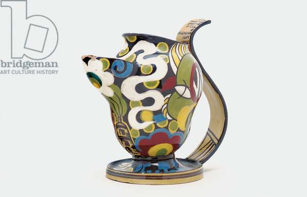 Majolica wine pitcher, 1929 (glazed earthenware)