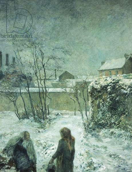 Snow, Carcel Road, 1883 (oil on canvas)