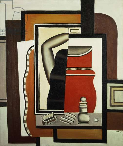 Woman and a Dressing Table; Femme a la Toilette, 1925 (oil on canvas)