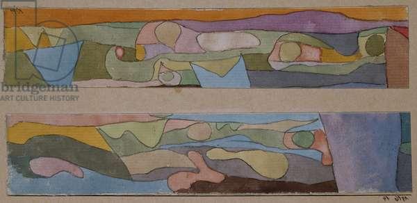 Zwei Kleine Aquarellen, 1916 (w/c)
