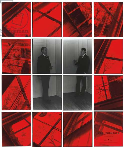 Bad Thoughts #1, 1975 (sixteen hand-coloured gelatin silver prints in frames.)