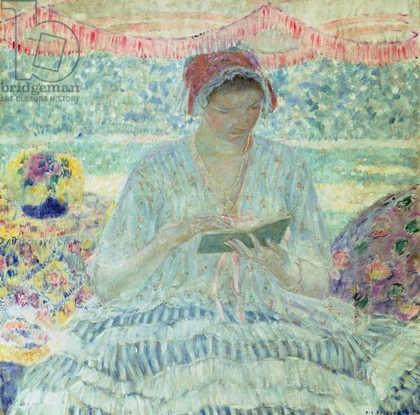 Summer Reading (oil on canvas)