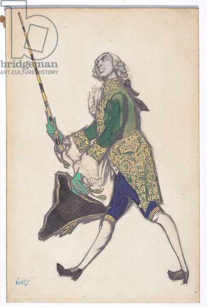Rinaldo, 1917 (pencil, ink, w/c & gouache, heightened with gold)