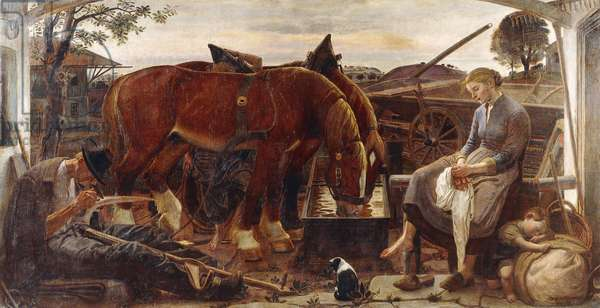 The Return from the Fields, 1943-1944 (oil on canvas)