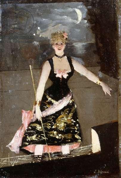 The Music Hall Singer,  (oil on panel)