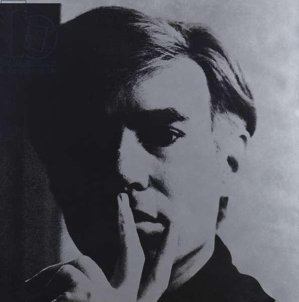 Self Portrait, 1967 (screenprint on silver-coated wove paper)
