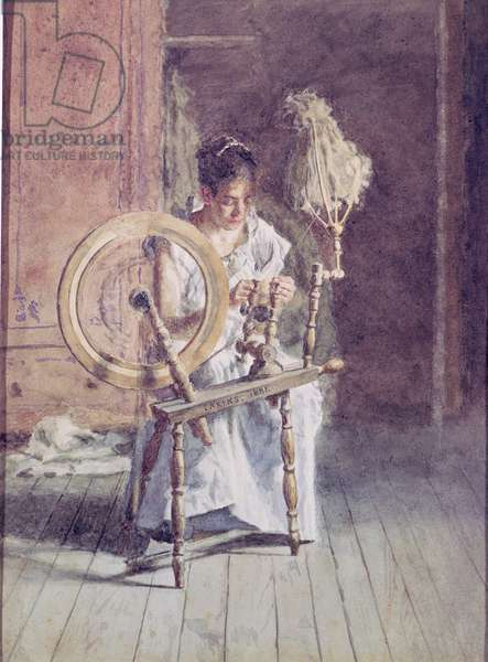 Spinning, 1881 (w/c on paper)