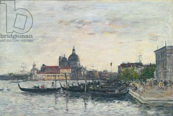 Venice, the Mole at the Entrance to the Grand Canal and the Salute, Evening, 1895 (oil on canvas)