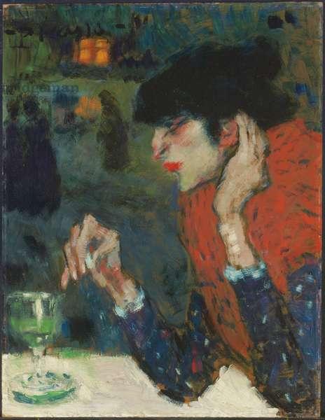 Buveuse accoudée, or La buveuse d'absinthe, 1901 (oil on board)